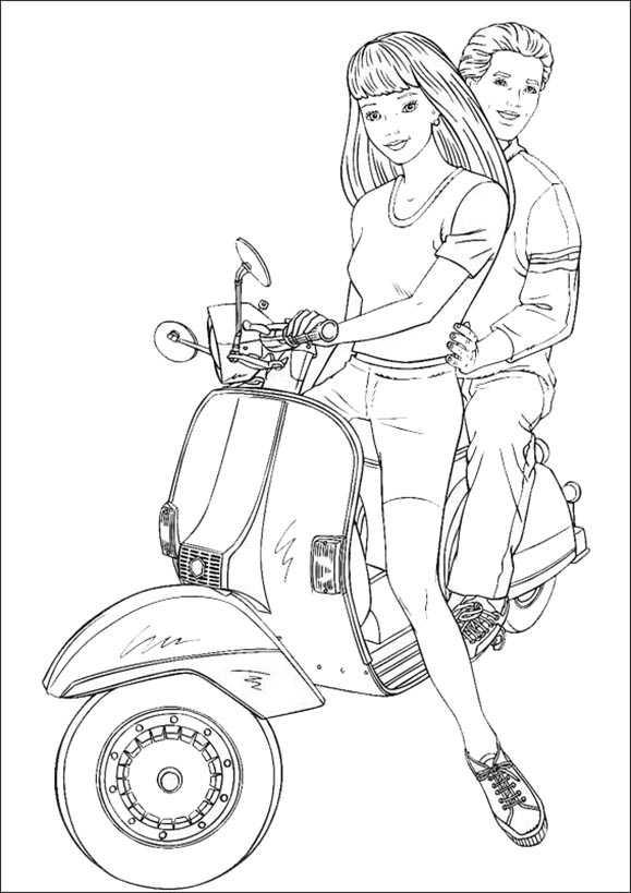 Barbie und Ken im Motorrad