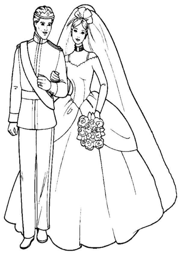 Barbie und Ken zu heiraten
