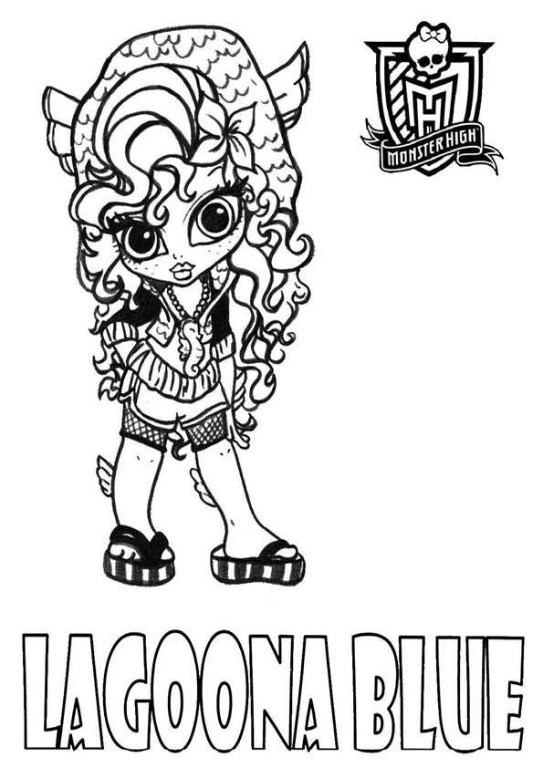 baby lagoona blue. monster high ausmalbilder