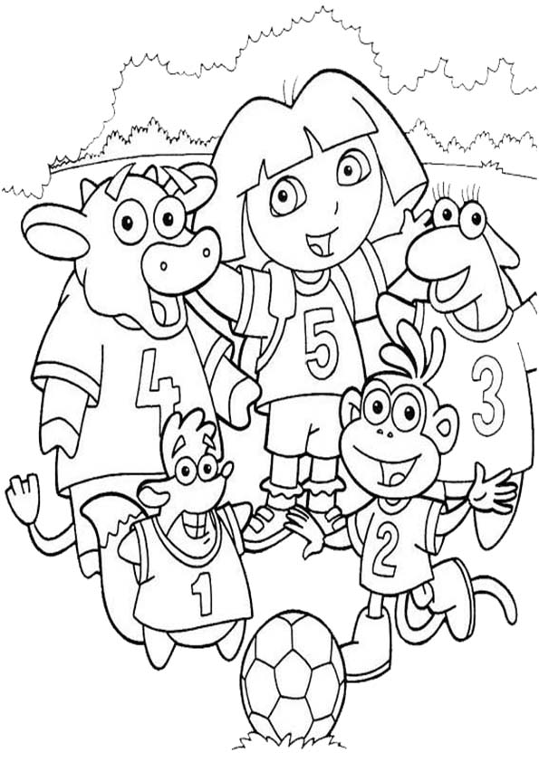 Ausmalbilder- Malvorlagen-Dora-33