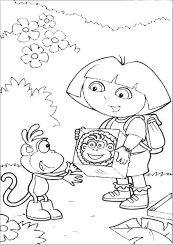 Ausmalbilder- Malvorlagen-Dora-39