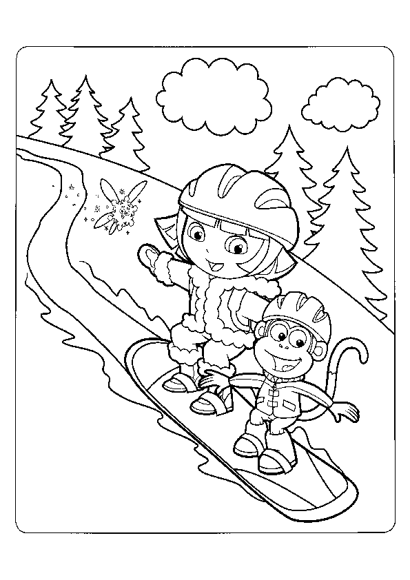 Ausmalbilder- Malvorlagen-Dora-43