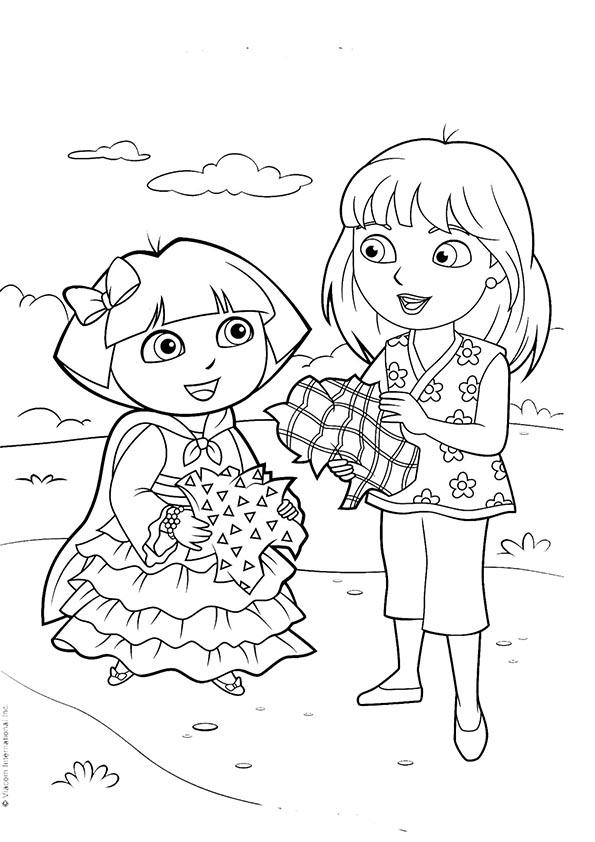 Ausmalbilder- Malvorlagen-Dora-47