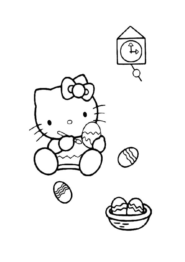 Ausmalbilder hello kitty 24