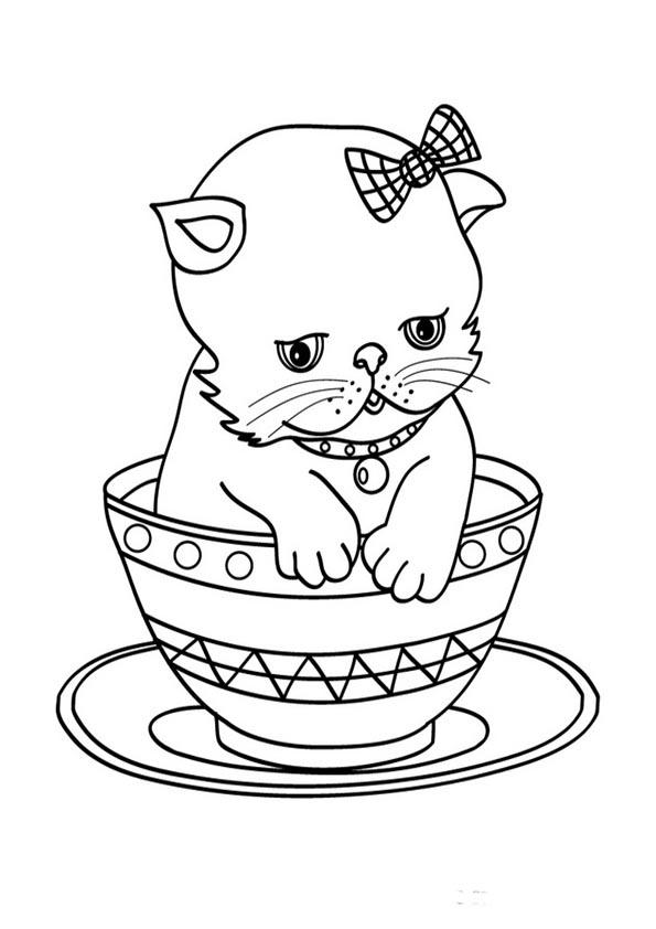 Ausmalbilder- Malvorlagen- Katzen 33