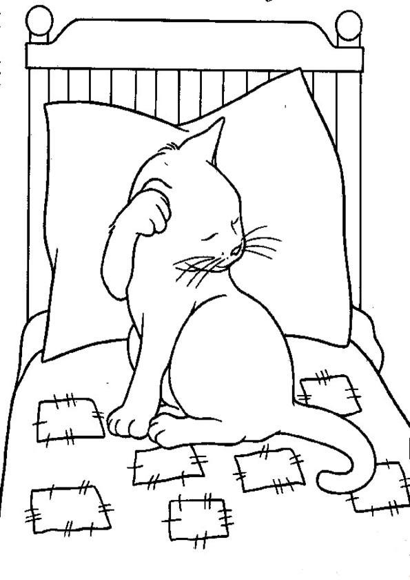 Ausmalbilder- Malvorlagen-Katzen-47