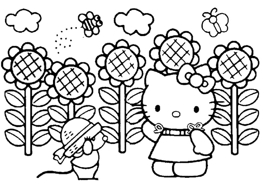 Ausmalbilder hello kitty 29