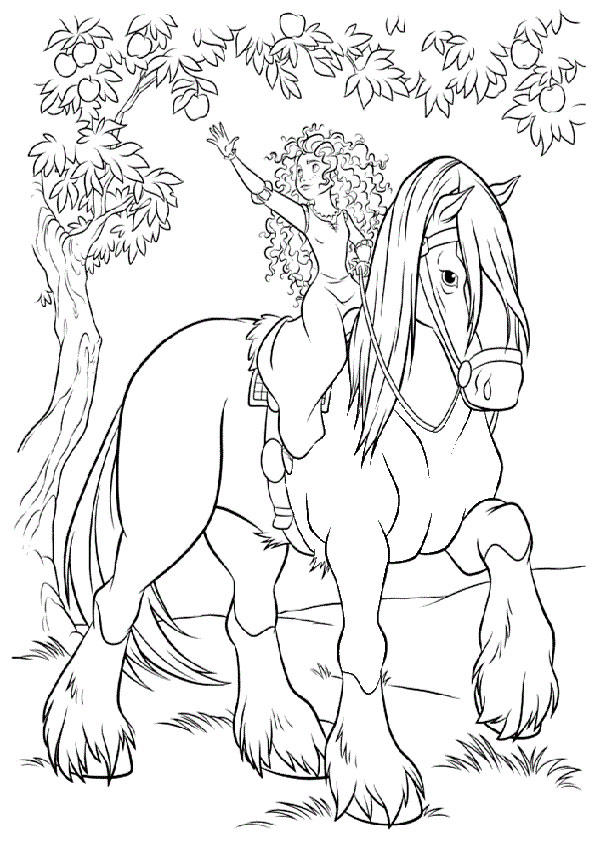 Ausmalbilder Pferde 50