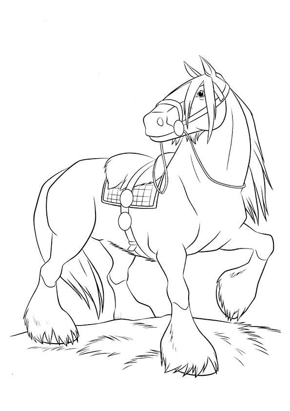 Ausmalbilder Pferde 51