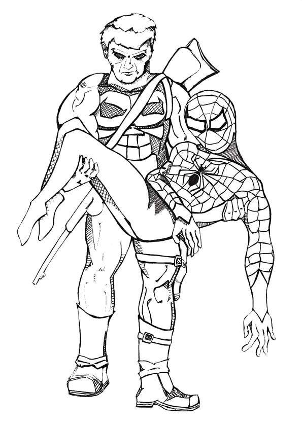 Malvorlagen ,Ausmalbilder, Spiderman-33
