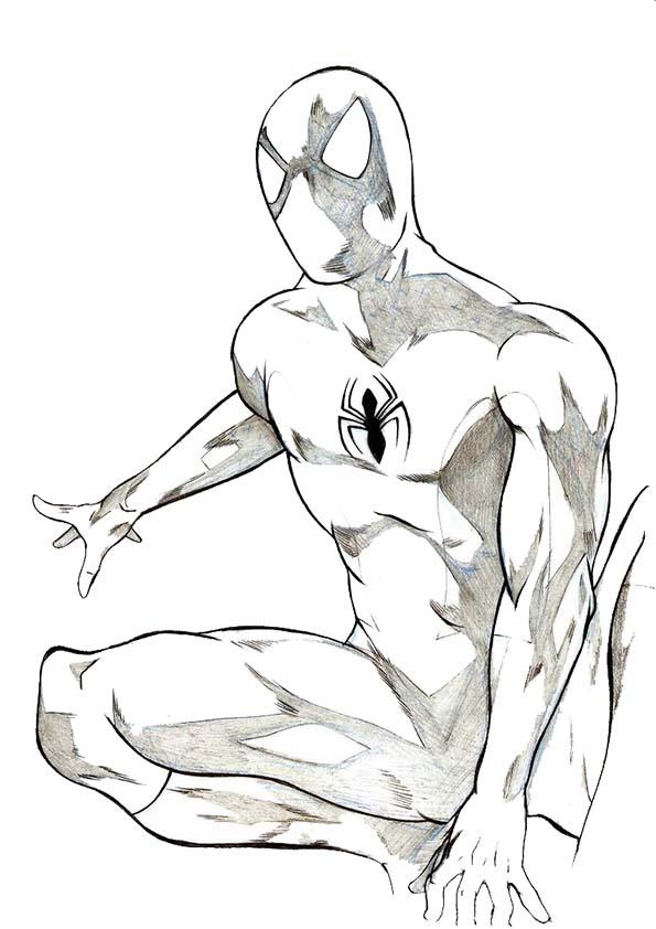 Malvorlagen ,Ausmalbilder, Spiderman-34