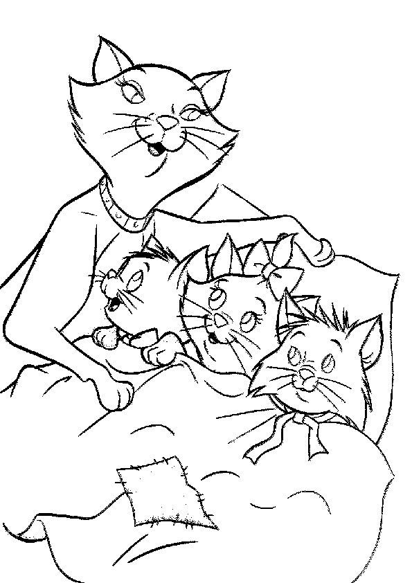 Ausmalbilder, Malvorlagen, katzen-22