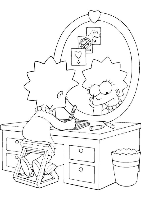 Ausmalbilder, Malvorlagen, Simpsons