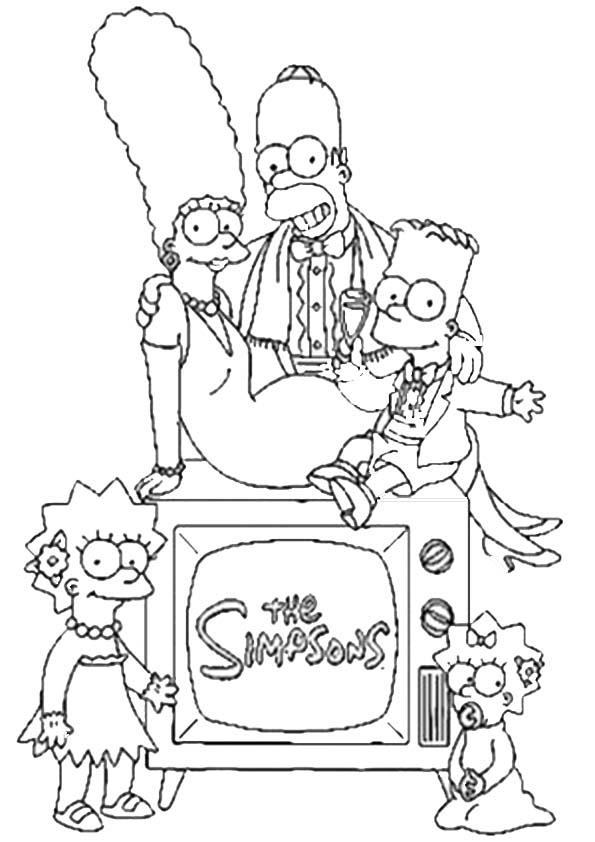 Malvorlagen ,Ausmalbilder, Simpsons-30