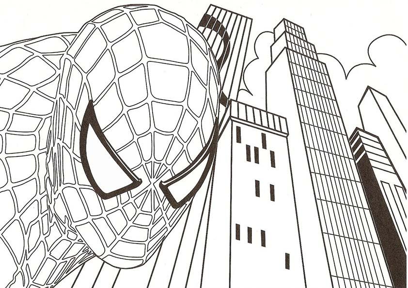 Malvorlagen ,Ausmalbilder, Spiderman-25