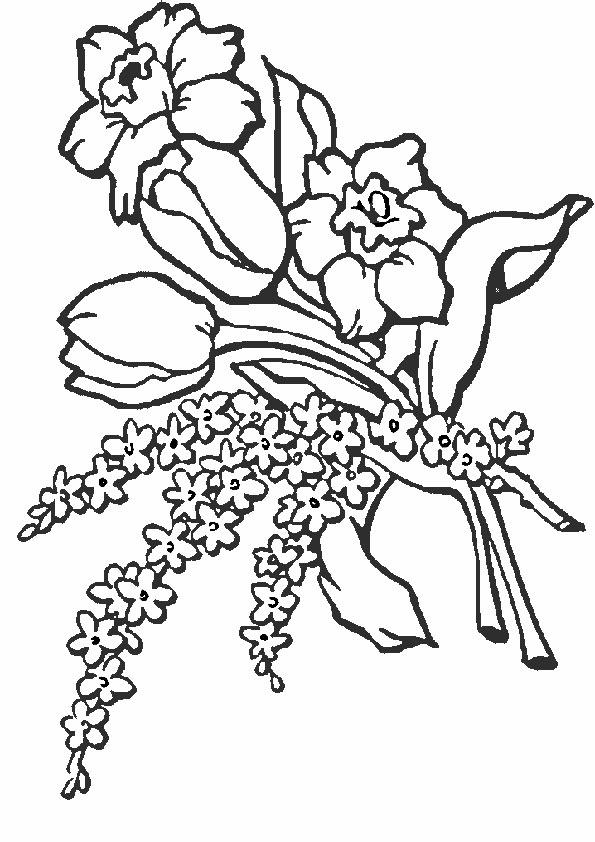 Ausmalbilder Blumen 10