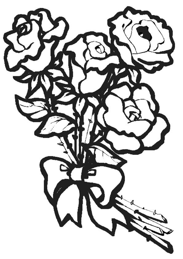 Ausmalbilder Blumen 16