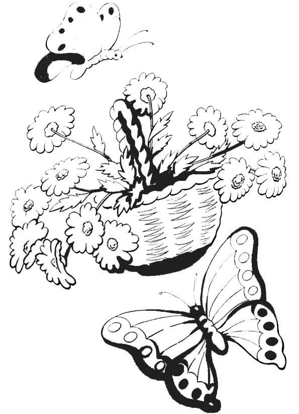 Ausmalbilder Blumen 17