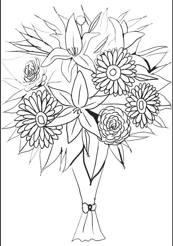 Ausmalbilder Blumen 18