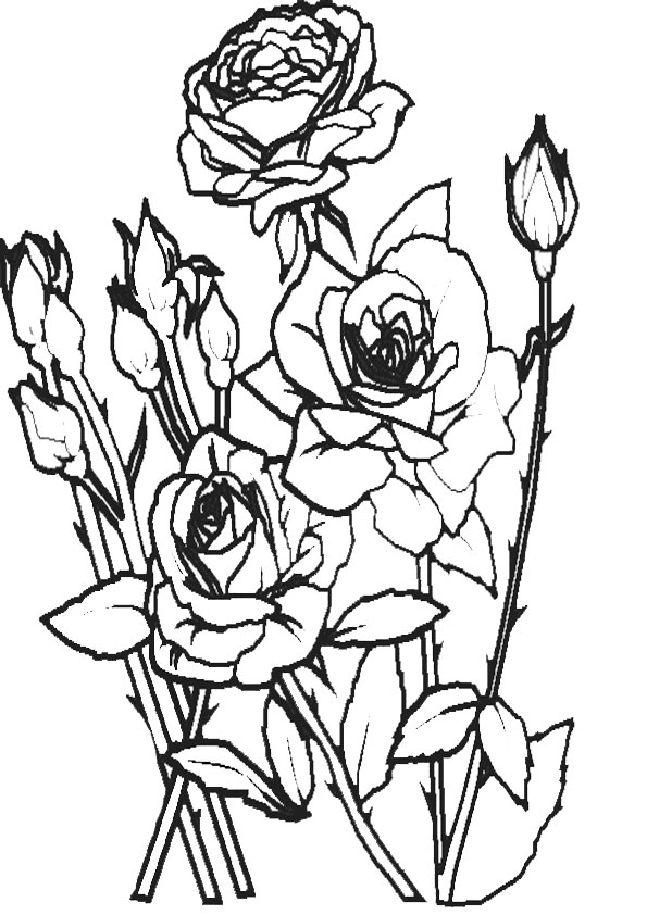 Ausmalbilder Blumen 9