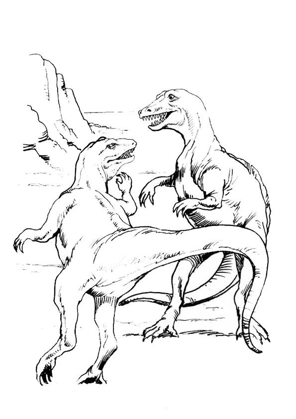 Ausmalbilder Dinosaurier 1