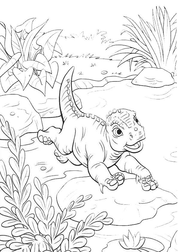 Ausmalbilder Dinosaurier 10