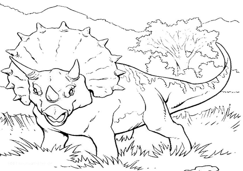 Ausmalbilder Dinosaurier 7