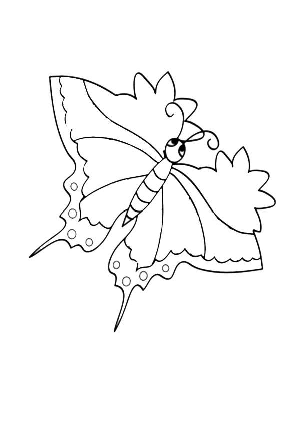 Ausmalbilder-Schmetterling 1