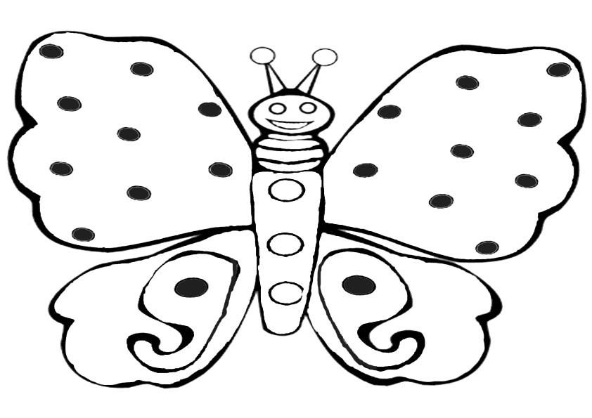 Ausmalbilder Schmetterling 11