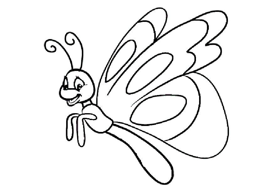 Ausmalbilder Schmetterling 2