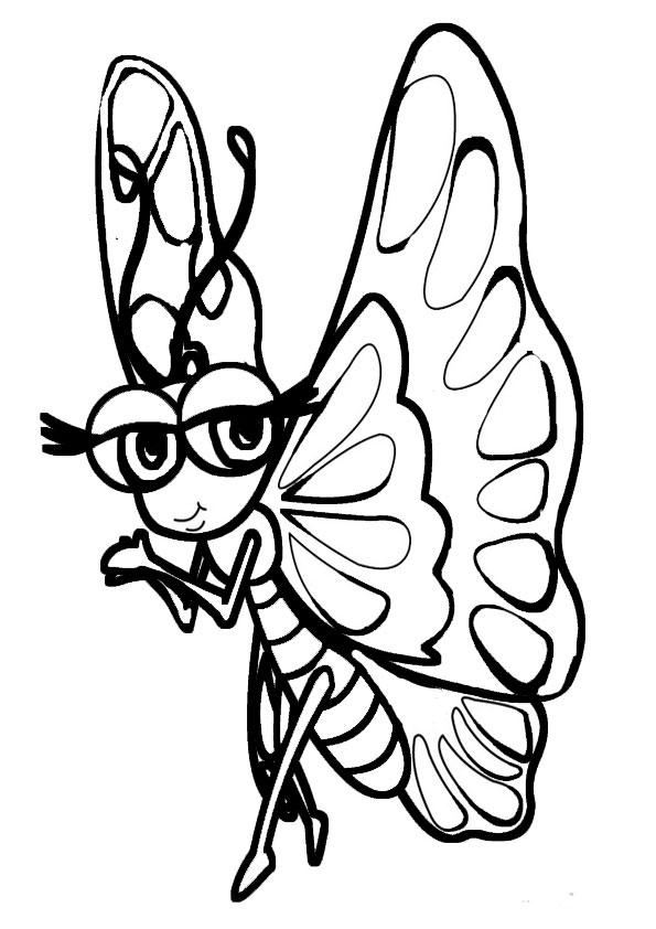 Ausmalbilder Schmetterling 3