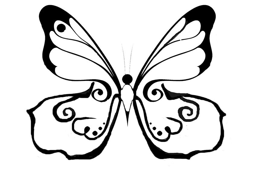 Ausmalbilder Schmetterling 6