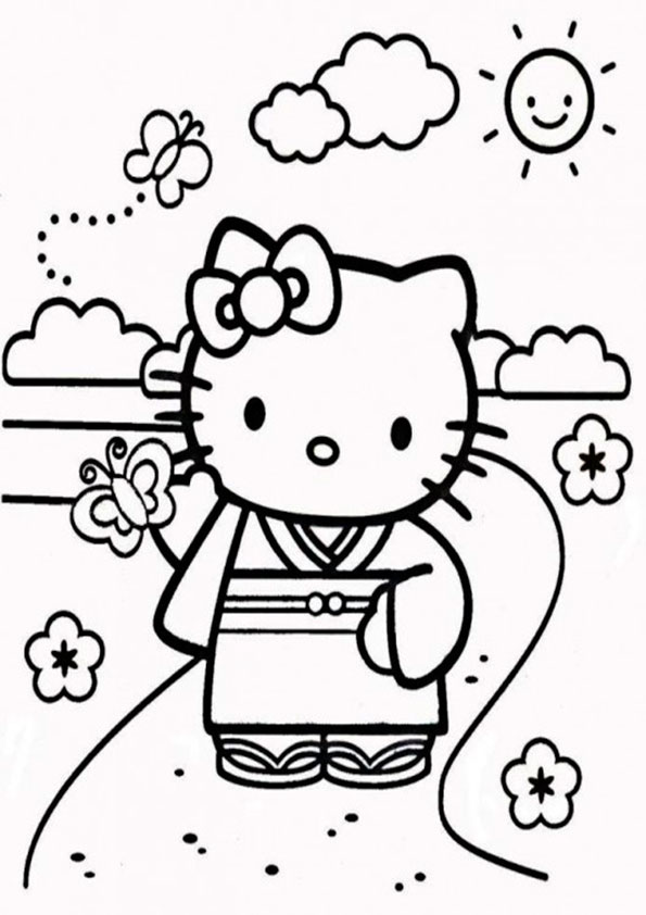 Ausmalbilder Hello Kitty-35