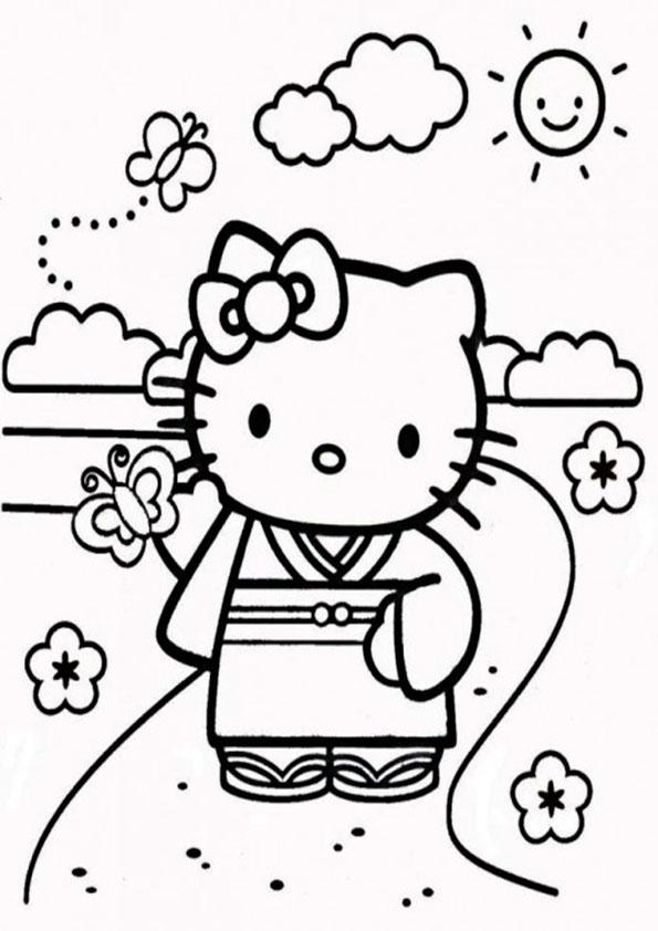 Ausmalbilder Hello Kitty-35