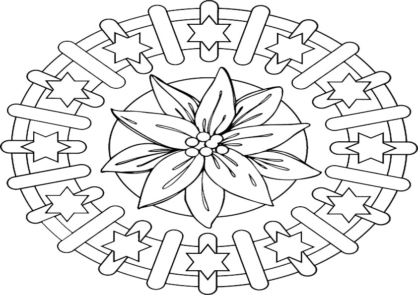 Ausmalbilder mandala 1