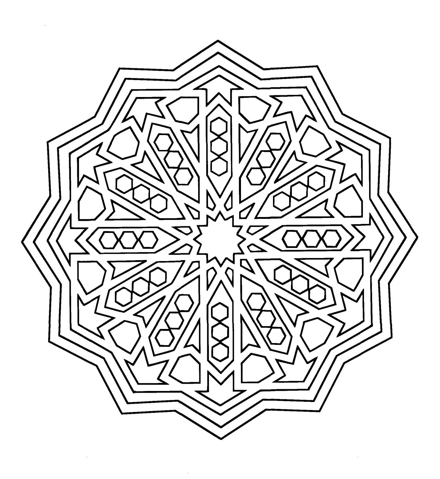 Ausmalbilder Mandala 10