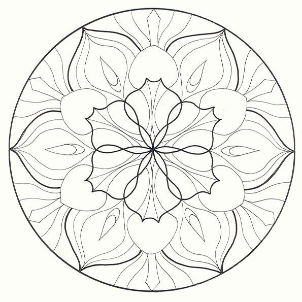 Ausmalbilder Mandala 13