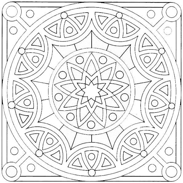 Ausmalbilder Mandala 14