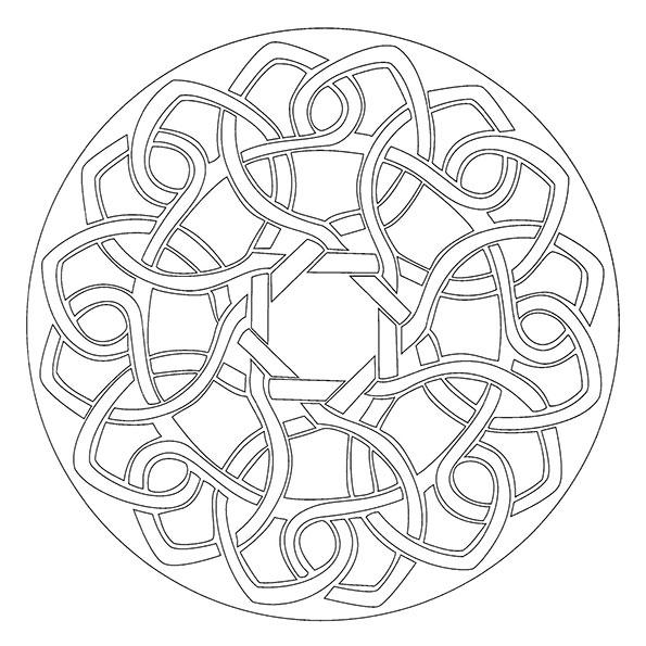 Ausmalbilder Mandala 16