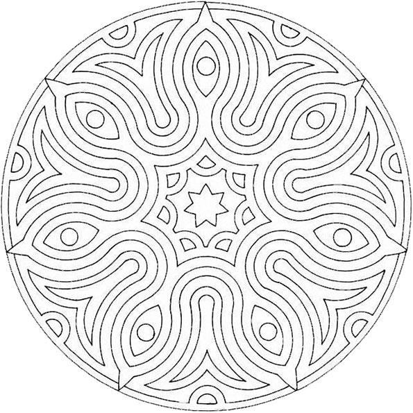 Ausmalbilder Mandala 24