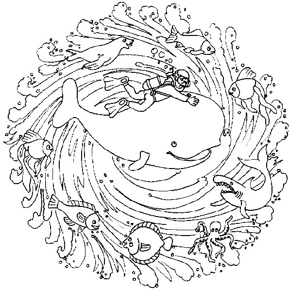 Ausmalbilder Mandala 25
