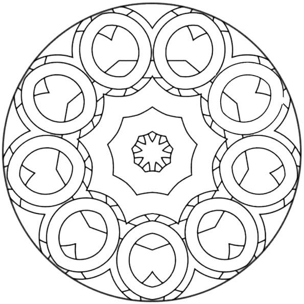 Ausmalbilder Mandala 26