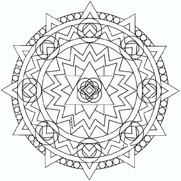 Ausmalbilder Mandala 27