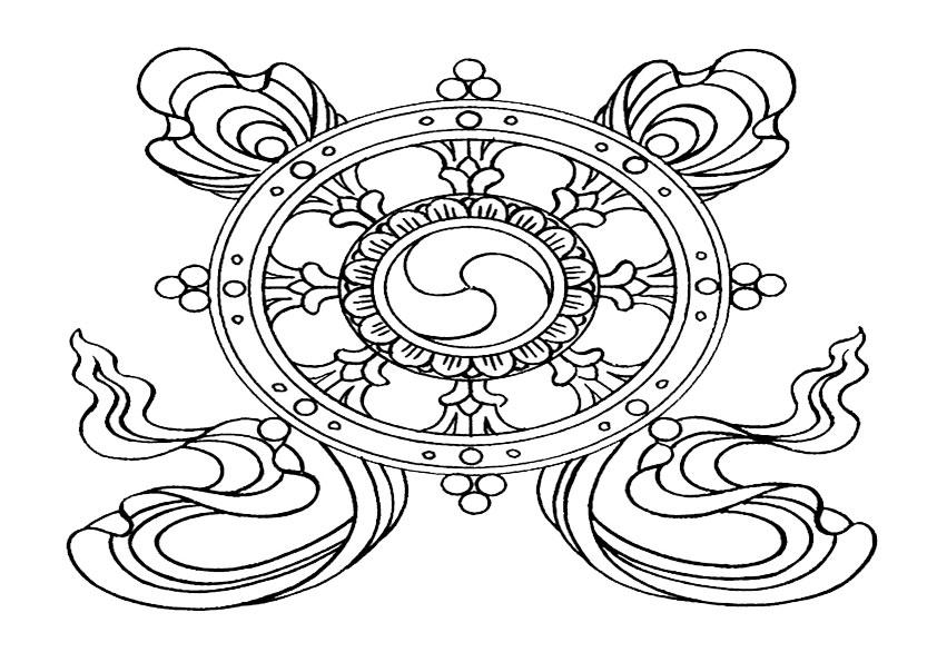 Ausmalbilder Mandala,Malvorlagen von Mandala 3