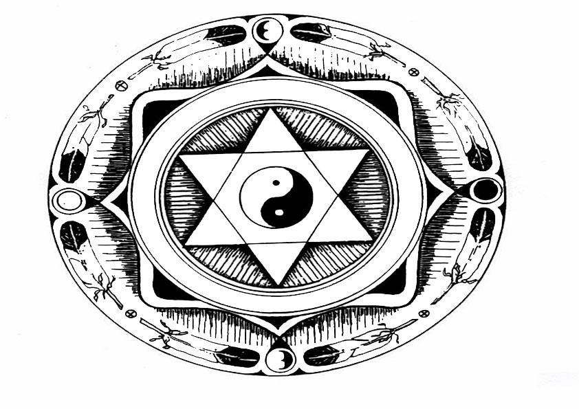Ausmalbilder Mandala 4