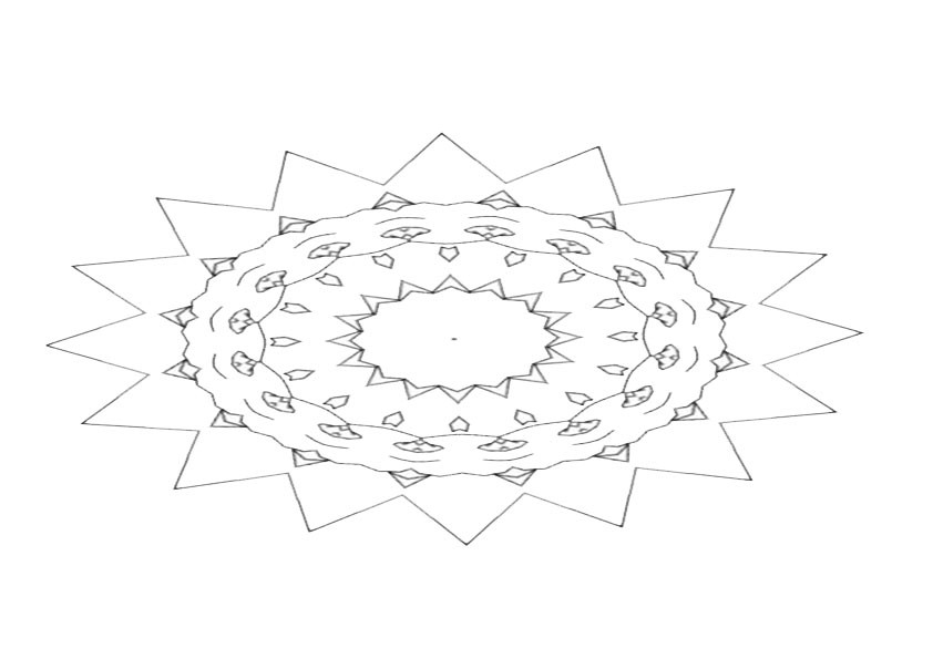 Ausmalbilder Mandala 5