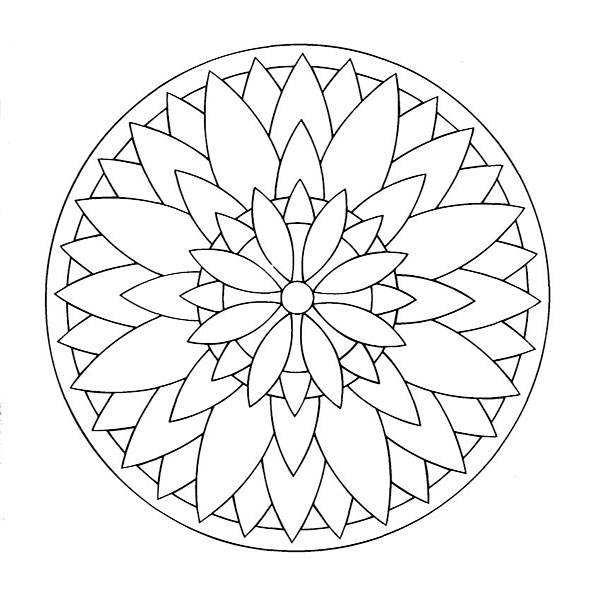 Ausmalbilder Mandala 6