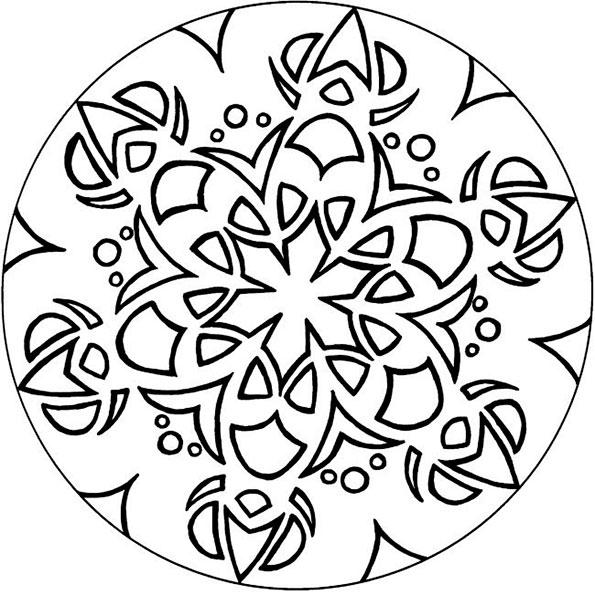 Ausmalbilder Mandala 8
