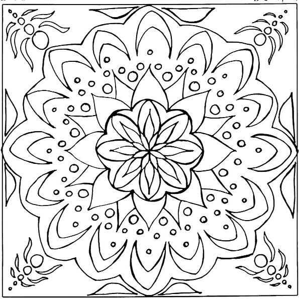 Ausmalbilder Mandala 9