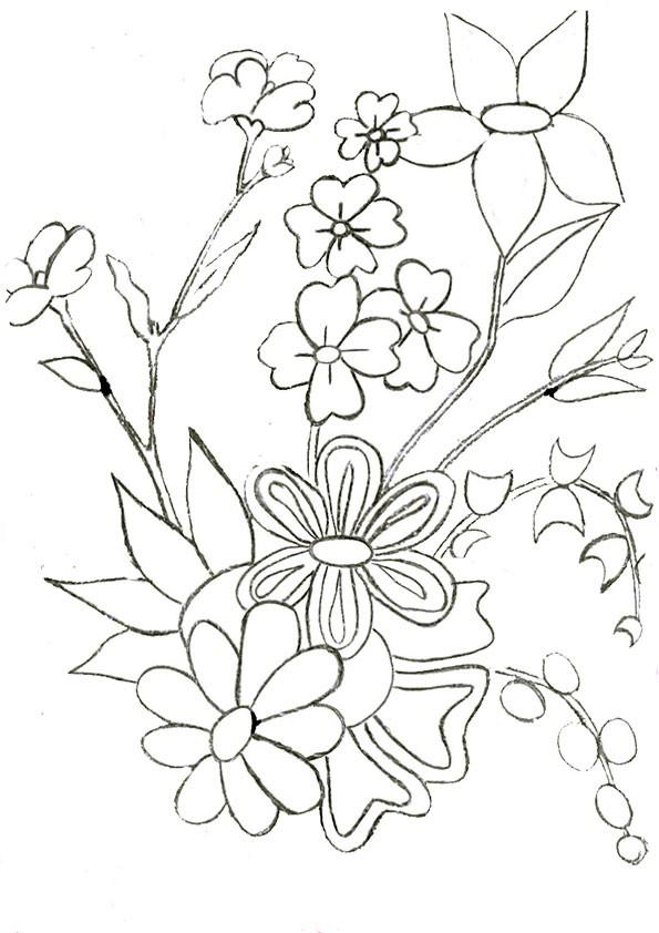 Ausmalbilder Blumen-21